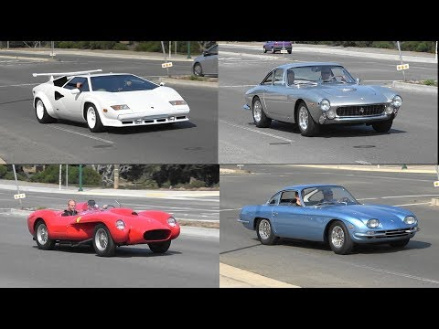8 minutes of Classic Italian Cars Driving Away