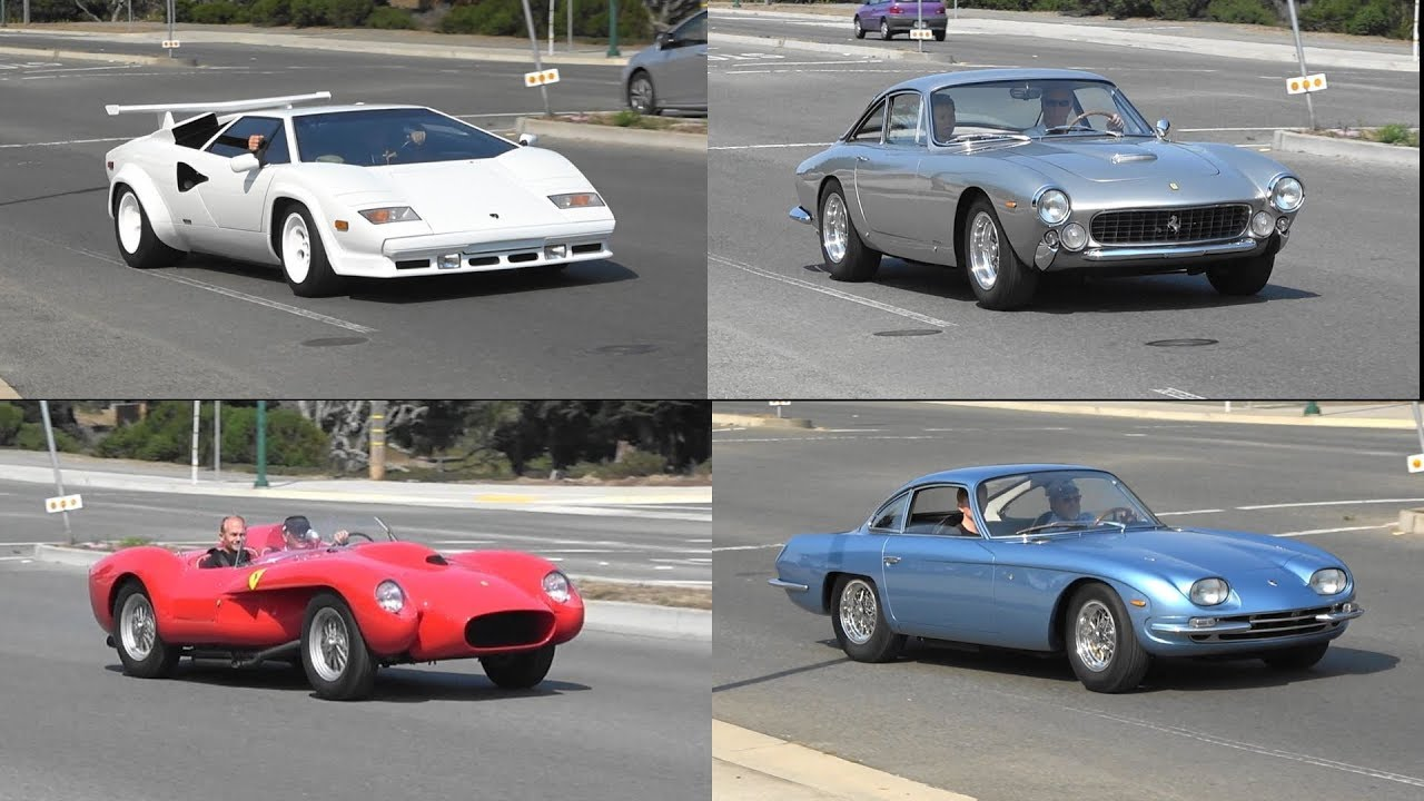 8 minutes of classic italian cars driving away youtube