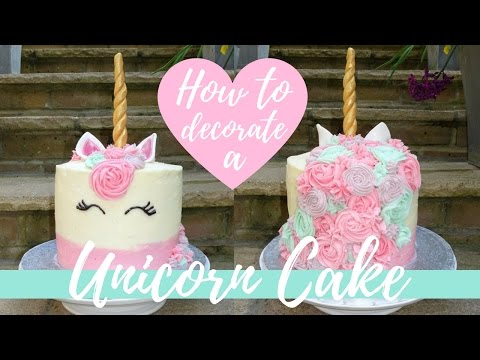 HOW TO MAKE A UNICORN CAKE // Mrs Grace Young