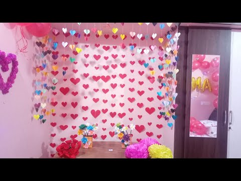 Wedding Anniversary Decoration Ideas At Home Romantic Room Decoration Ideas 1st Anniversary Special Youtube