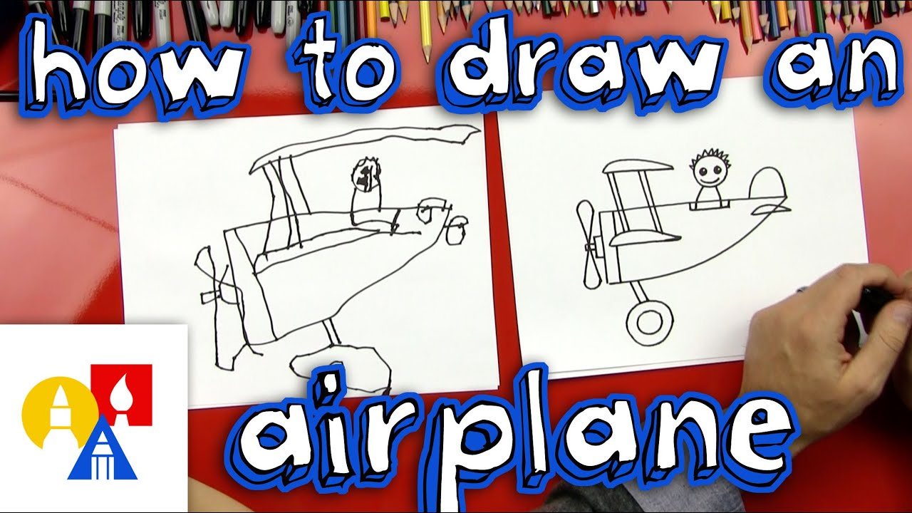 how to draw an airplane for young artists youtube