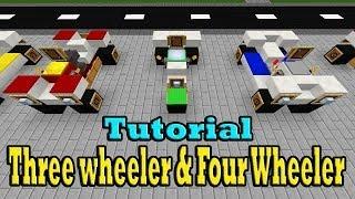 Minecraft Tutorial Of Three wheeler & Four Wheeler