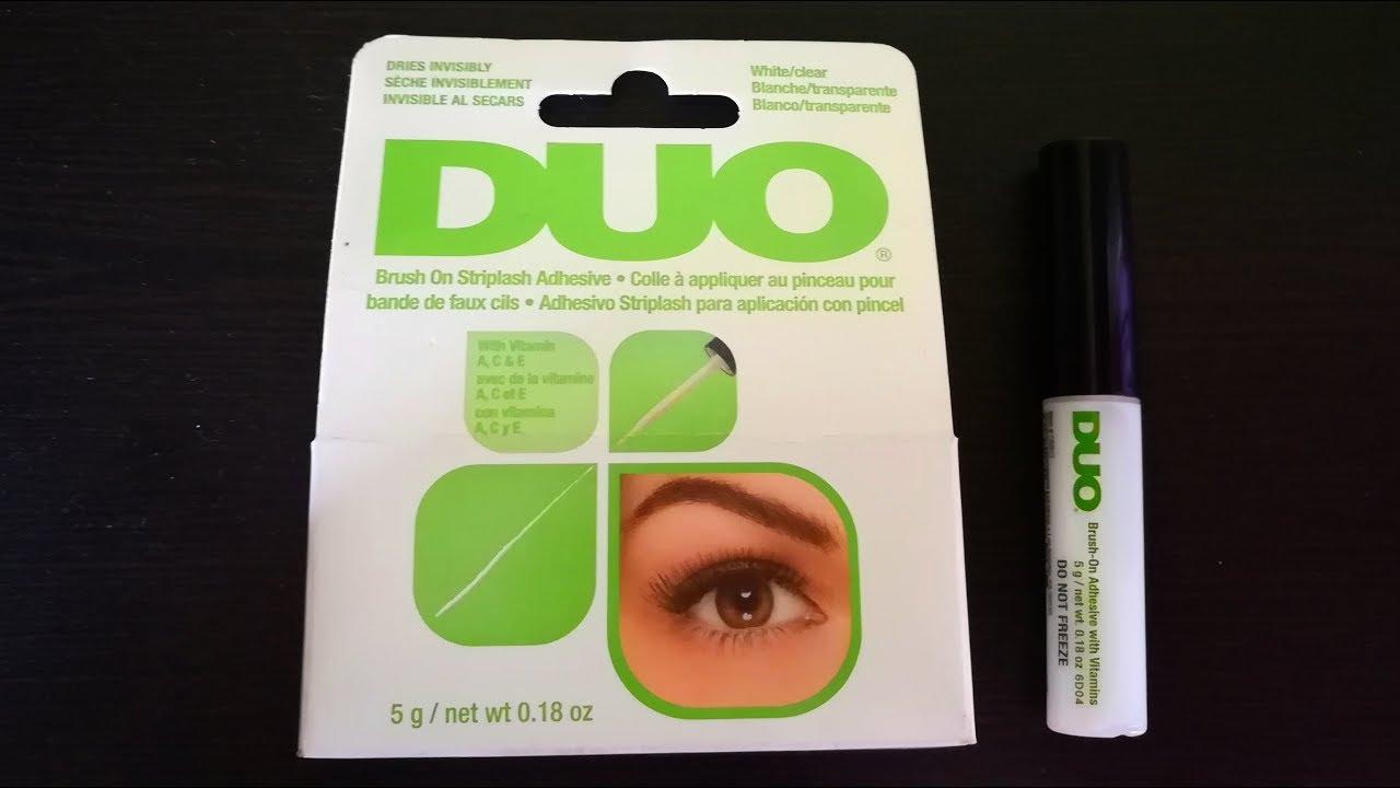 Best eyelash Glue in India||Duo Brush on Striplash ...