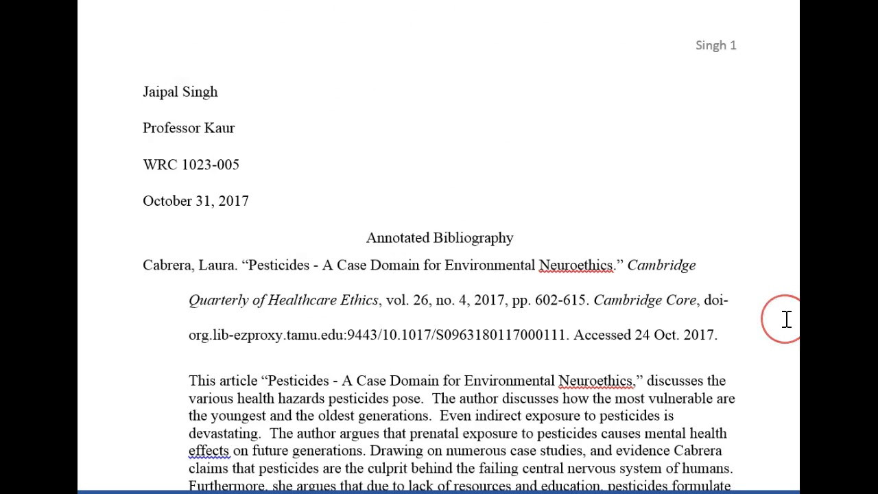 assignment bibliography
