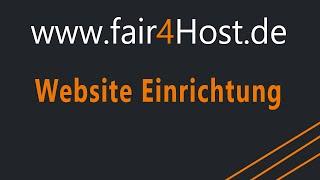 fair4Host | Website Einrichtung