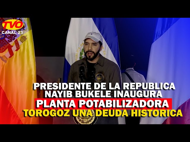 PRESIDENTE DE LA REPUBLICA INAUGURA PLANTA POTABILIZADORA TOROGOZ
