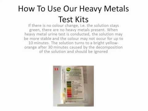 Heavy Metals Detox Test Urine & Water Heavy Metals Toxicity Testing Kit - Arsenic, Mercury, Lead