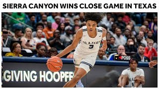 Sierra Canyon Wins Close Game Behind 24 Points From Brandon Boston - Full Highlights