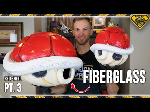 How To Fiberglass a Mario Kart Red Shell