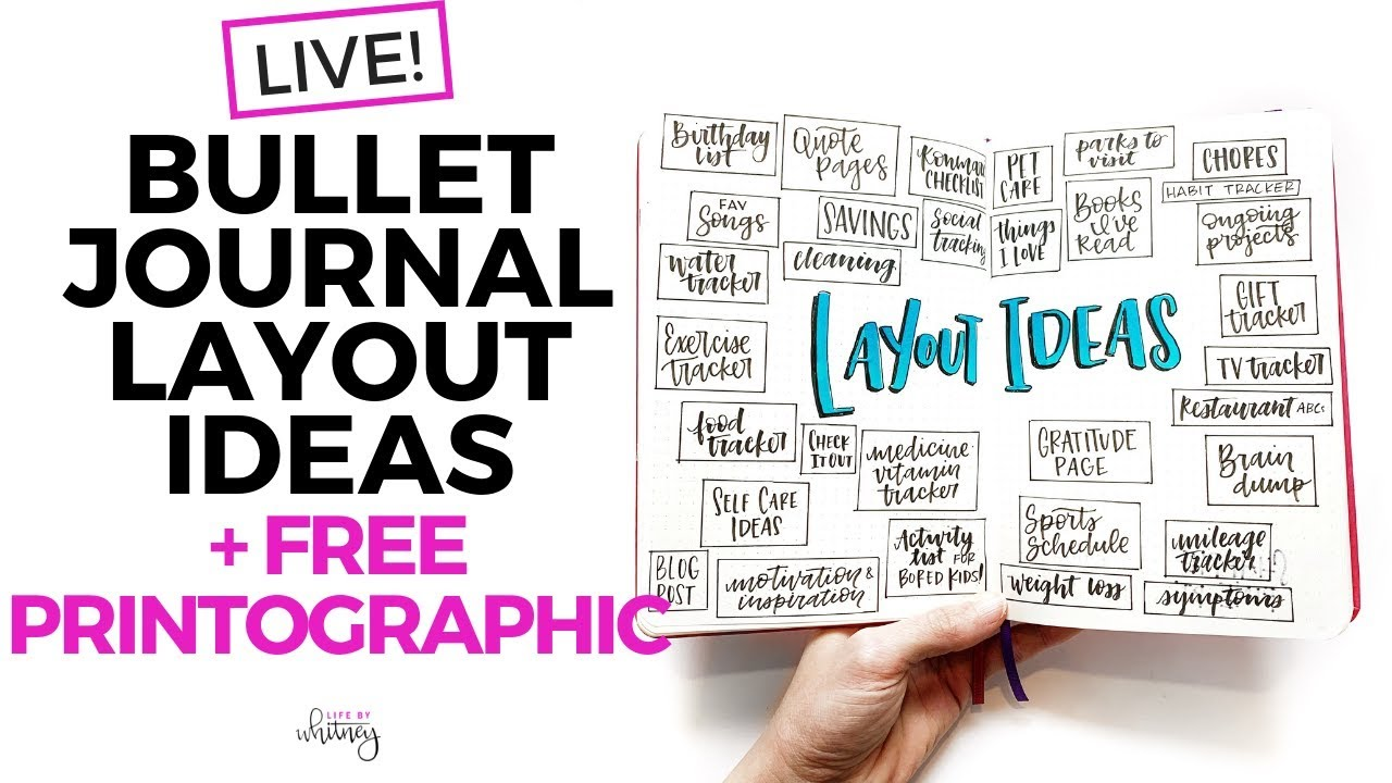 379 Bullet Journal Ideas The Master List Printographic