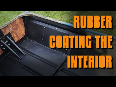 Jon Boat Mods: Rubber Coating the Interior