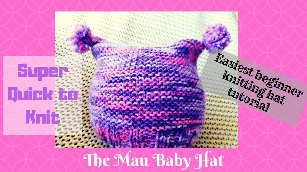 EASY KNITTED BABY HAT  0714875431c
