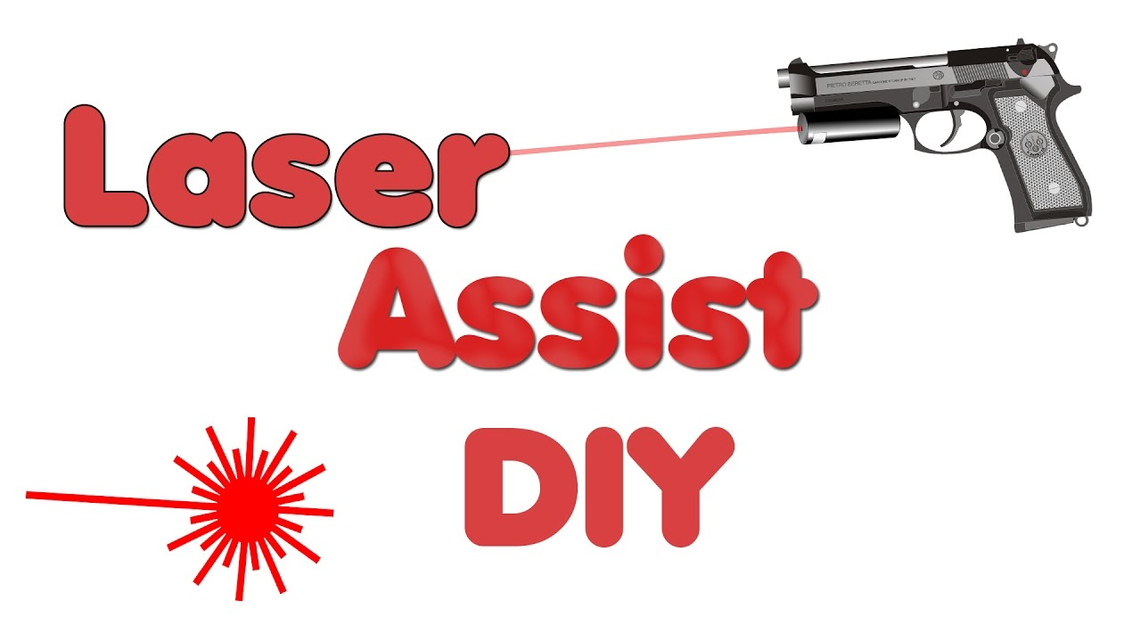 laserwaffe selber bauen pistole mit laserassist youtube. Black Bedroom Furniture Sets. Home Design Ideas