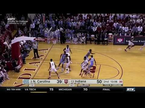 North Carolina at Indiana - Men's Basketball Highlights