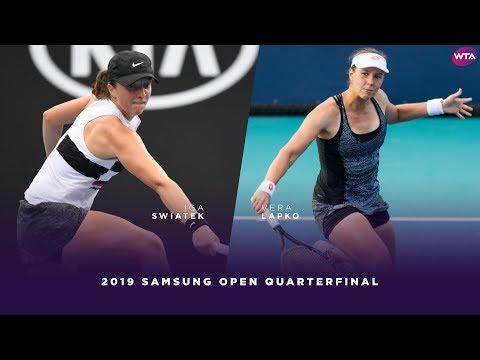Iga Swiatek vs. Vera Lapko | 2019 Samsung Open Quarterfinals | WTA Highlights