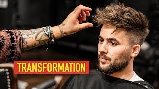 Mens Hair Transformation: From Long to Short | Textured Spiky Quiff ft. Jordan O'Brien