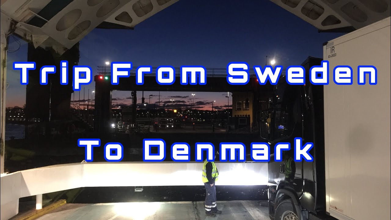 POV Driving Volvo FH500 In Scandinavia Part 2 (Sweden and Denmark)