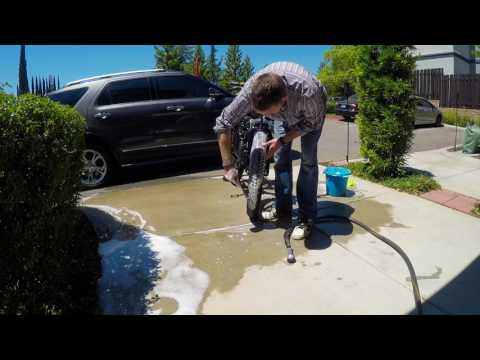 How I wash my E-bike