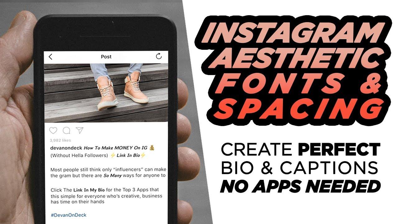 instagram bio caption tricks secret fonts aesthetic spacing