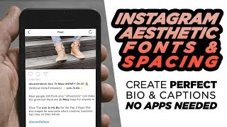 Instagram Bio + Caption Tricks | SECRET FONTS + Aesthetic Spacing | DevanOnTech
