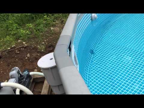 Installing A Thru Wall Skimmer In An Intex Pool Funnydog Tv