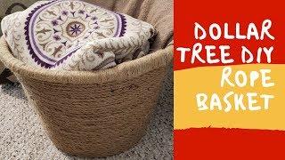 Dollar Tree DIY-Rope Basket