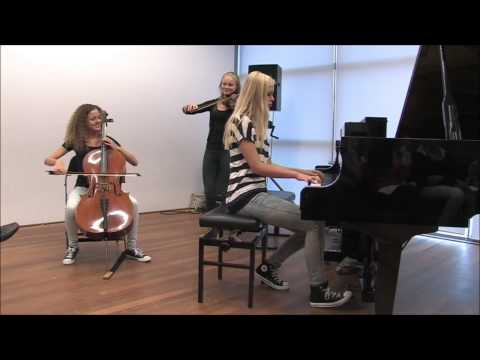 Pirates of the Caribbean - Jarrod Radnich cover by Hedwig (cello), Serena (violin) and Sanne (piano)
