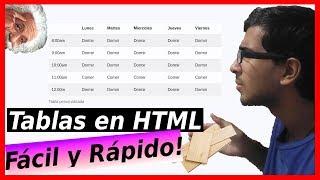 😮 Como CREAR una PAGINA WEB con TABLAS en HTML [➕ACERTIJO]  ✅ TABLAS EN HTML5 | Curso de HTML5 #2