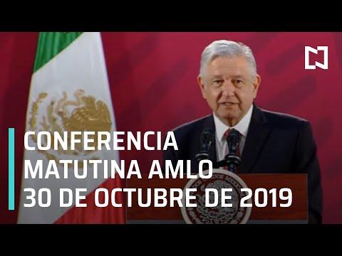 Conferencia matutina AMLO - miércoles 30 de octubre de 2019