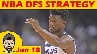 NBA DFS Projections & Strategy | Thursday 1/18 | FanDuel & DraftKings
