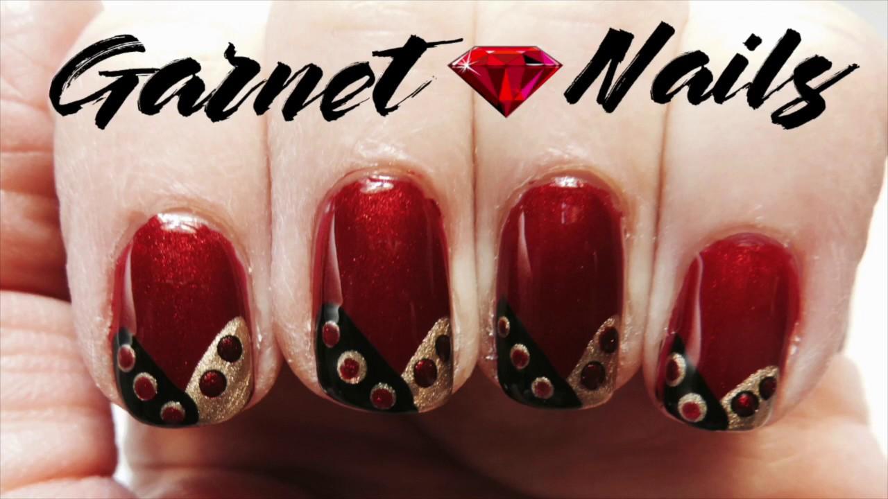 January Birthstone Garnet Nails - Birthstone Series - Nail Design ...