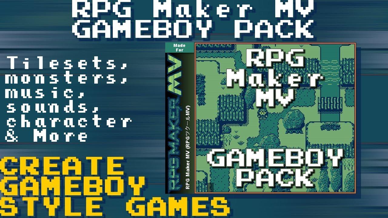 RPG maker MV Gameboy Pack!