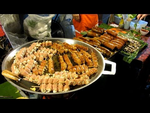 Best of Street Food In Chiang Mai Thailand Sunday Night Market Walking Street Food