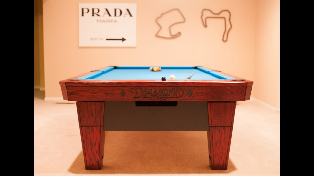 Ft DIAMOND PROAM Installation Time Lapse YouTube - 9ft diamond pool table