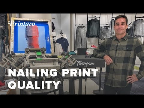 Nailing Screen Print Quality with Eduardo Carbia | Transom PR in Puerto Rico