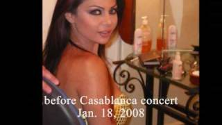 Haifa Wehbe at concerts in 2007-08
