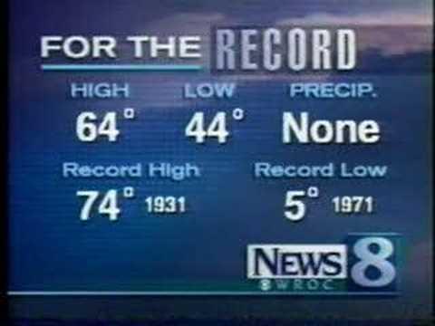 WROC News 8 11pm montage 1998