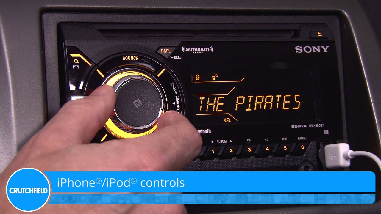 Sony WX-900BT Display and Controls Demo | Crutchfield Video - YouTube