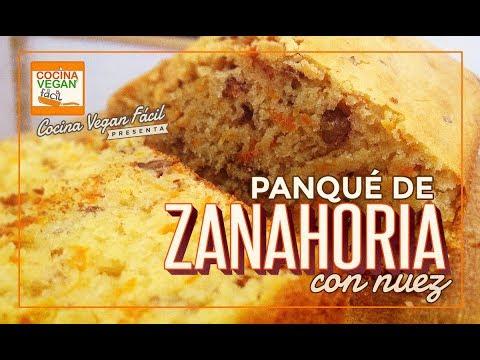 Panqué de zanahoria con nuez - Cocina Vegan Fácil