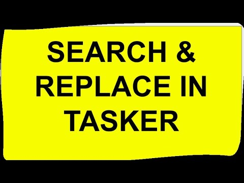 Tasker Variable - Search and Replace