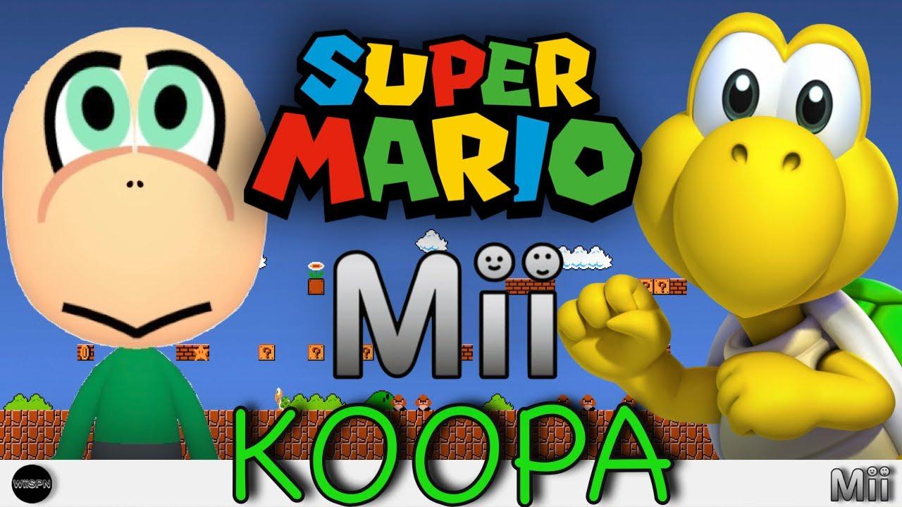 KOOPA TROOPA Mii SUPER MARIO!