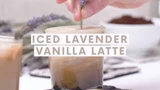 Iced Lavender Vanilla Latte