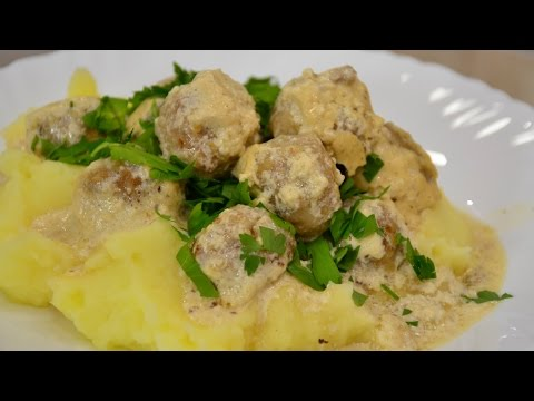 Вкуснейшие тефтели-фрикадельки в сливочном соусе