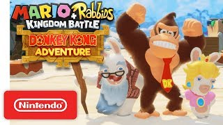 Mario + Rabbids Kingdom Battle: Donkey Kong Adventure DLC Gameplay Trailer - Nintendo Switch