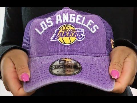 06d4d158f798b Lakers  RUGGED-TEAM TRUCKER SNAPBACK  Purple Hat by New Era - YouTube