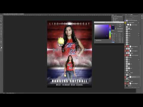 Photoshop Sports Template Tutorial - Game On