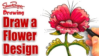 Draw a Stylised Flower Design