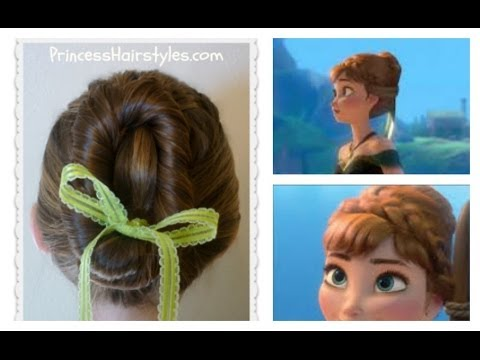 Frozen Hairstyles Anna Coronation Bun Disney Inspired