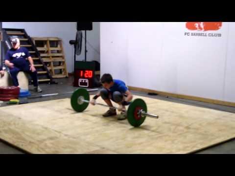Kyle Holman (56kg) 3rd attempt C&J 50kg. PR.