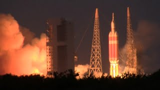 Launch of the Delta IV Heavy rocket carrying NASA